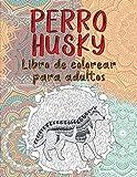 Perro husky - Libro de colorear para adultos