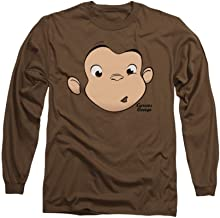 Curious George George Face Adult Long Sleeve T-shirt