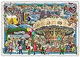 Nostalgische Ansichtskarte mit Glitzer * München Oktoberfest