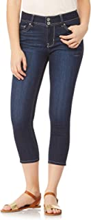 WallFlower Juniors Women's Plus Size InstaSoft Ultra Fit Skinny Crop Jeans