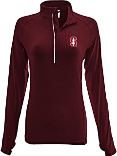 Levelwear LEY9R NCAA Stanford Adult Women Energy Insignia Half Zip Mid-Layer, Medium, Cardinal
