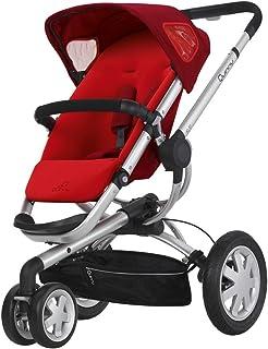 Quinny 60304990 Buzz 3 - Silla de paseo con cesta, capota, protector para la lluvia y adaptador para capazo (3 ruedas), color rojo