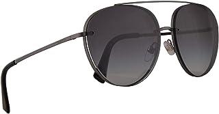 نظارة فالنتينو VA 2009 نظارة شمسية بلون رمادي داكن مع عدسات متدرجة 58 ملم 30178G VA2009S VA2009/S VA2009