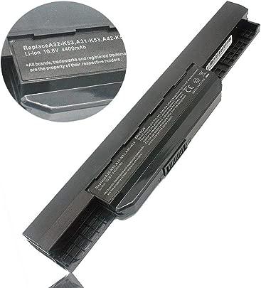 JQS  Laptop Batterie Akku f r ASUS A32-K53 A42-K53 A31-K53 A41-K53 K53E K53S K53SV A53E A53S X53S X54H 07G016H31875 A43S Hohe Leistung  A    Zellen  10 8V 4400mAh  Jahr Garantie