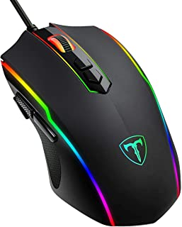 Epeios Gaming Mouse with RGB Backlit, 8 Programmable Buttons, 7200 DPI Sensor Optical Wired Gaming Mouse, High Precision, ...