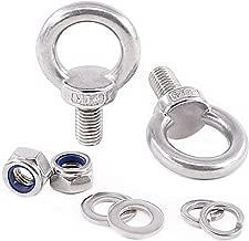 M5X10 304 Stainless Steel Male Thread Lifting Ring Eye Bolt Eyebolt Screws Machinery Shoulder 10PCS