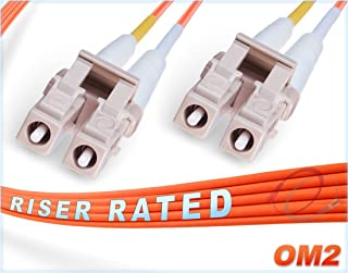 FiberCablesDirect - 0.5M OM2 LC LC Fiber Patch Cable   1Gb Duplex 50/125 LC to LC Multimode Jumper 0.5 Meter (1.64ft)   Length Options: 0.5M - 300M   1gb 10gb mmf lcupc sfp 1gbase dplx PVC ofnr lc-lc