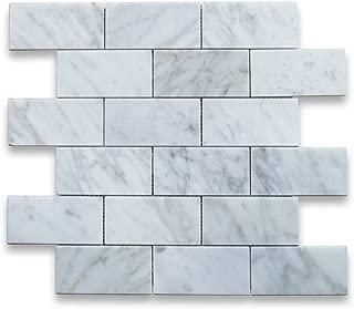 Best carrara marble subway tiles backsplash Reviews