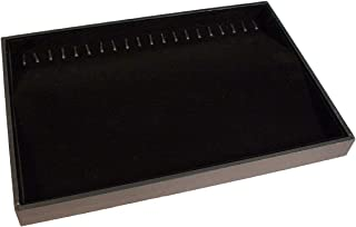 Black Velvet Jewelry Display Tray with 20 Hooks is Perfect for Bracelets Necklace Organizer -Stackable