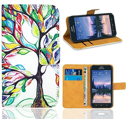 Samsung Galaxy S6 Active Handy Tasche, FoneExpert Wallet Hülle Flip Cover Hüllen Etui Ledertasche Lederhülle Premium Schutzhülle für Samsung Galaxy S6 Active