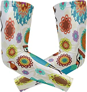 Arm Sleeves African Woman Funny Mens Sun UV Protection Sleeves Arm Warmers Cool Long Set Covers