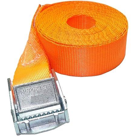 Zurrtec 10 X 250 Kg Dan 1m Profi Spanngurte Mit Klemmschloss 25mm Spannriemen Befestigungsriemen Din En 12195 2 Orange Auto