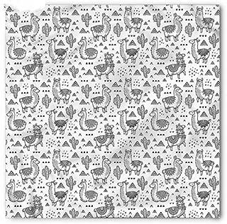 westtreg Patrón de Alpaca de Dibujos Animados Pañuelo Lindo Marca ...