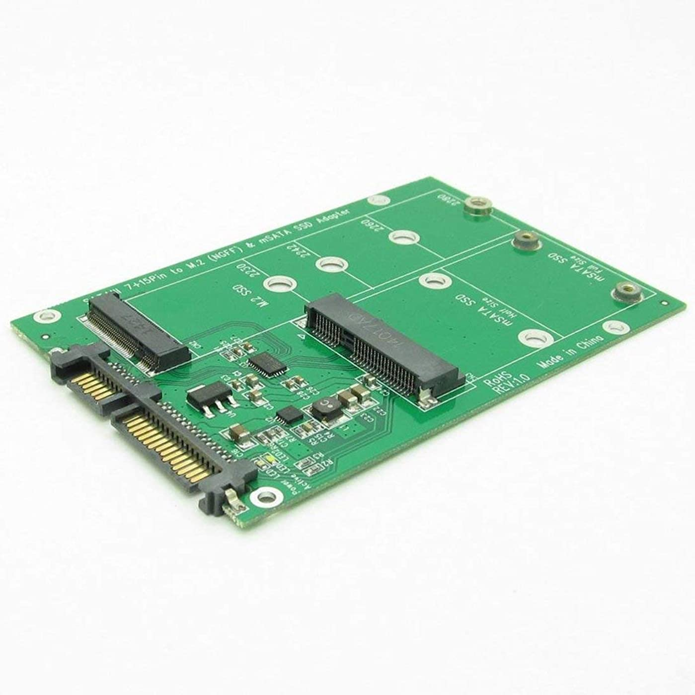 行くアジテーションライナーmSATA&NGFFへのUSB 3.0 7 + 15ピンハードディスクM.2 SSD 2in1 ComboミニPCI-Eアダプタコンバータリーダカード(ケーブル付) 木の羽