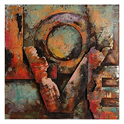 "Empire Art Direct Love Mixed Media Iron Hand Painted Dimensional Wall Art, 32"" x 32"" x 2.6"", Ready to Hang from Empire Art Direct"