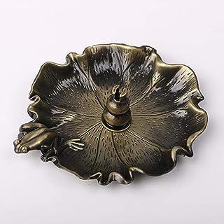 香炉莲花纯铜檀香盘托家用室内茶道供佛沉香薰线香座香插,青蛙+葫芦