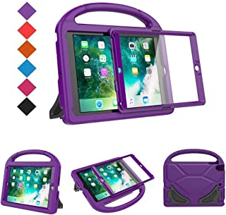 BMOUO Kids Case for New iPad 9.7 2018/2017 - Built-in Screen Protector Shockproof Light Weight Handle Convertible Stand Case Cover for Apple iPad 9.7 Inch 2018 (6th Gen) / 2017 (5th Gen) - Purple