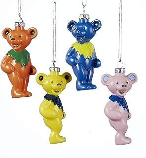 Grateful Dead Dancing Bear Ornament 4/asstd.