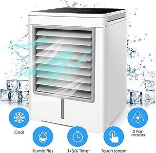 LBWNB Portátil Mini Air Conditioner,Aire Enfriador, Mini Ventilador Humidificador Purificador de Aire USB Aire Acondicionado para Casa/Oficina/Camper/Garaje