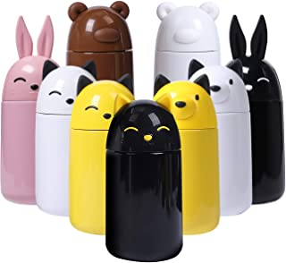 FACE Cute Water Bottle for School Vacuum Insulated Stainless Steel Thermos Bottle, 10-Ounce, Black Cat
