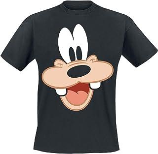 Micky & Minnie Goofy - Face Hombre Camiseta Negro