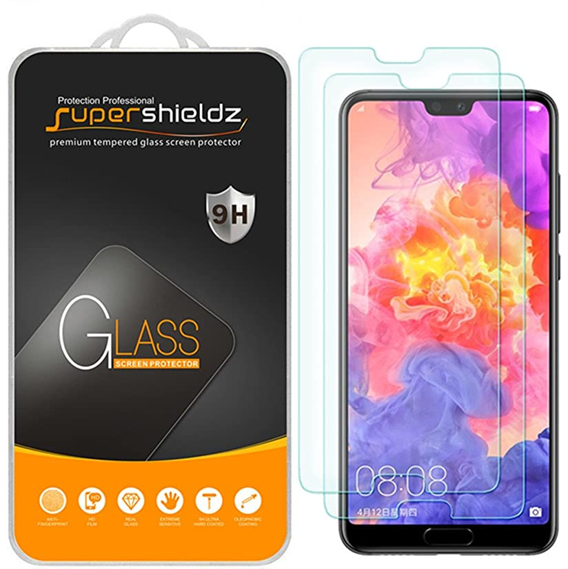 [2-Pack] Supershieldz for Huawei (P20 Pro) Tempered Glass Screen Protector, Anti-Scratch, Bubble Free, Lifetime Replacement