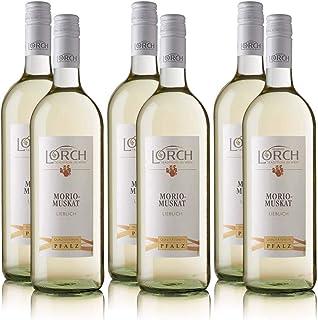 6 Flaschen Lorch Morio-Muskat Pfalz QbA, lieblich, sortenreines Weissweinpaket 6 x 1,0 l