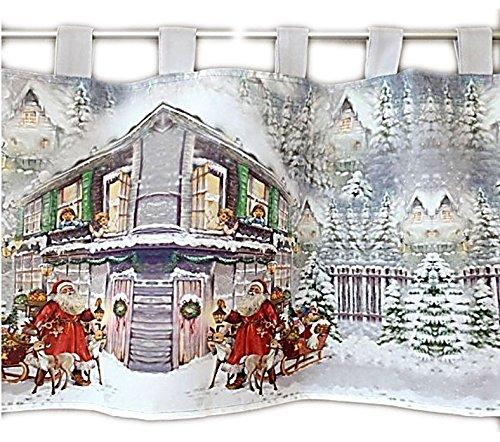 Raebel OHG Apolda Scheibengardine 50x150 cm Weihnachten Weihnachtsmann Bistrogardine Gardine
