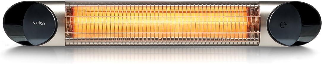 Blade S–Calefactor de infrarrojos con 2500W, incluye mando a distancia, 4niveles de calor, temporizador, fibra de carbono que sirve de calefactor y foco). Infrarrojos para interior y exterior.