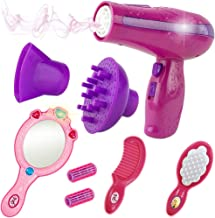 Liberty Imports Vogue Girls Beauty Salon Styling Fashion Pretend Play Set with Toy Hairdryer, Mirror and Styling Accessories