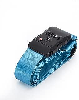 BlueCosto TSA Approved Luggage Strap Suitcase Travel Cross Belt Adjustable - Light Blue
