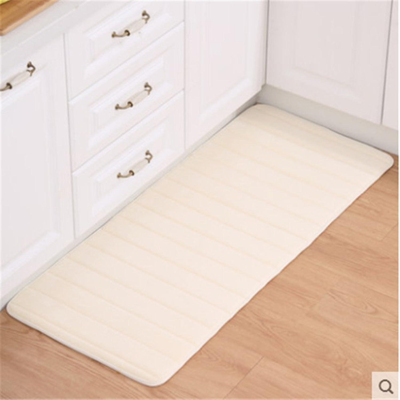 DXG&FX Memory foam mat bathroom non-slip mats kitchen bathroom floor mat-F 20x47inch