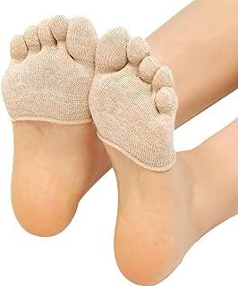 Yoga Gym Non Slip Toe Socks Women Invisible Half Grip Heel Five Finger Socks