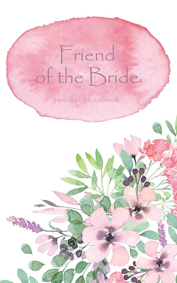 Friend of the Bride Journal Notebook: Pink Watercolor Wash - Beautiful Purse-Sized Lined Journal or Keepsake Diary For Bridal Wedding Party Planning, Preparation, Ideas, Notes, and To Do Lists