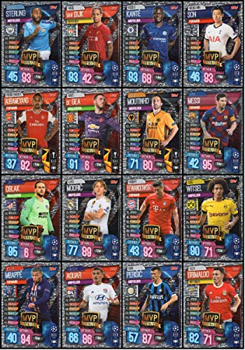 MATCH ATTAX 19/20 Full Set of Sixteen (16) MVP Trading Cards - Champions League