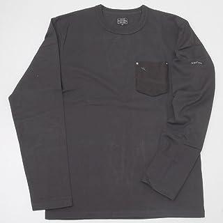Schott ショット 3143092(3173078)-08(09) 鹿革ポケットワンスター長袖Tシャツ ブラック M