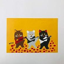猫の足あと ポストカード「にゃんたってトリオ」