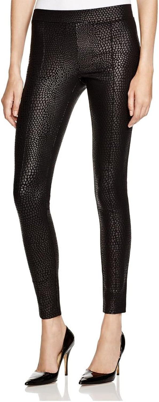 Hue Women's Python Sleek Ponte Leggings, Black, Small