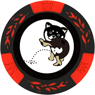 ホクシン交易 ゴルフグリーンマーカー 直径約40mm 和んこ堂 京都 黒柴 柴犬