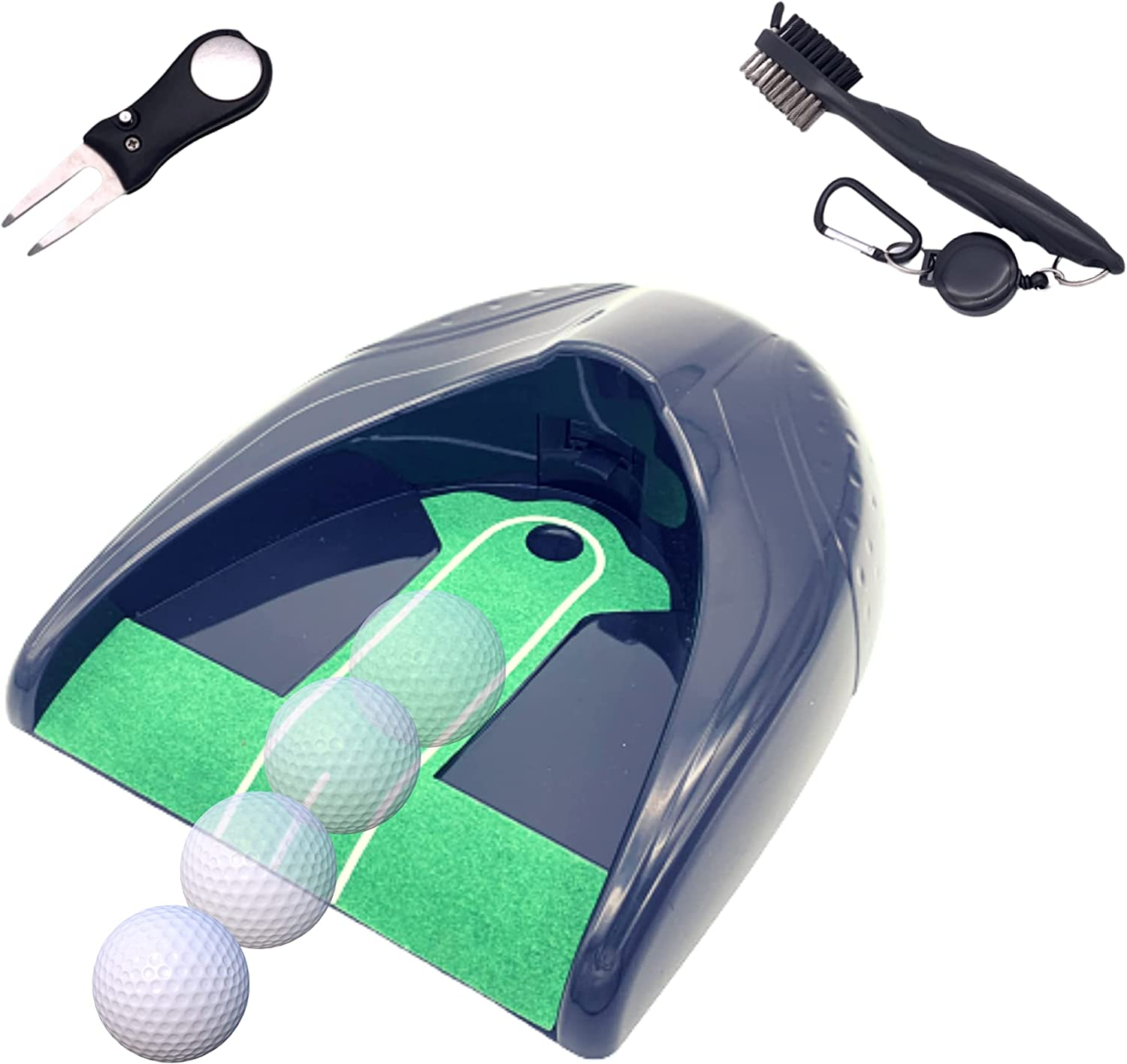 NITROVO Automatic Golf Putting Cup San Francisco Max 73% OFF Mall Divo Returner Set 2-in-1 with
