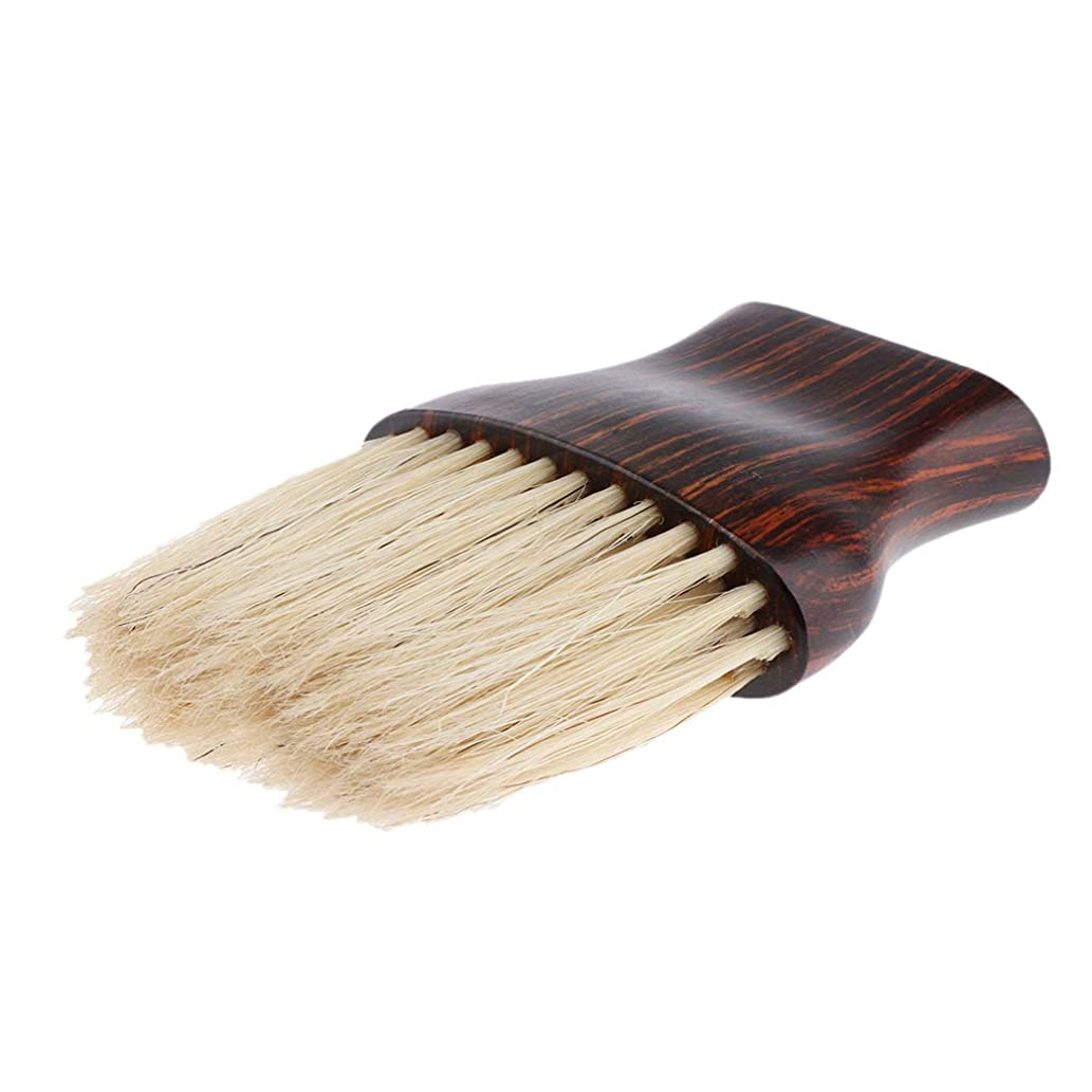 こんにちはエントリ呼ぶB Baosity ネックダスターブラシ 柔らかい繊維 ヘアブラシ 木製ハンドル 快適