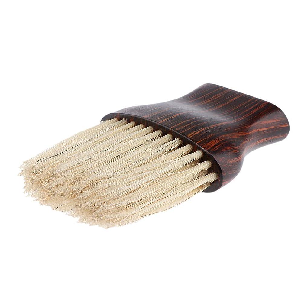 ベアリングサークルカフェ熟練したB Baosity ネックダスターブラシ 柔らかい繊維 ヘアブラシ 木製ハンドル 快適