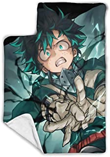 """Other1 Child's Sleeping Bag with Blanket and Pillow Inspired by My Hero Anime A_Cademia Artist Comfortable Flannel Sleeping Cushion Child Nap Mat 43""""""""X21"""