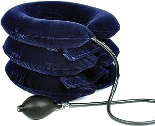 Collar para la tracción cervical inflable FreeNeck - Collarín Tracción Cervical Inflable Del Cuello - Para El Dolor De Cabeza Y Hombros