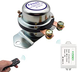 Car Battery Remote Control Master Disconnect Switch - DC12V, 180A,Silver Contact - Electromagnetic Solenoid Valve Terminal Master Kill System
