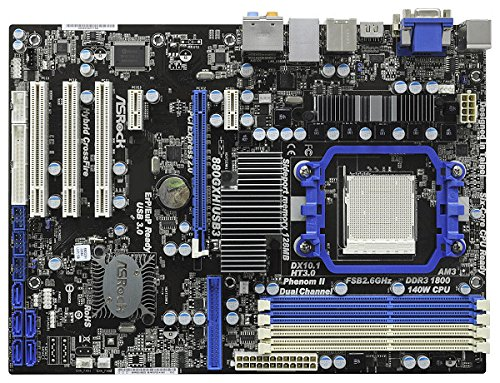 ASRock 880GXH/USB3 Mainboard Sockel AMD AM3 880G 4X DDR3 Speicher ATX