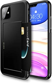 iPhone 11 ケース 6.1インチ Hokonui 2019最新版 ICカード収納 軽量 耐衝撃 全面保護 落下防止 アイフォン11 ケース 三重構造 カメラ保護 携帯カバー【一年間品質保証】(iphone11ブラック)