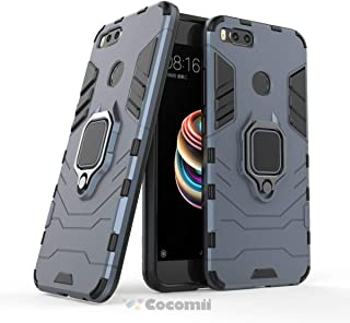 Cocomii Black Panther Armor Xiaomi Mi A1/Mi 5X Case New [Heavy Duty] Tactical Metal Ring Grip Kickstand Shockproof Bumper [Works with Magnetic Car Mount] Full Body Cover for Xiaomi Mi A1 (B.Black)