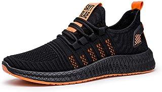 Hardloopschoenen voor volwassenen,Comfortabele, ademende casual hardloopschoenen voor heren-Orange_39,ademende gymschoenen