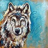 Wolf Painting, wolf print, wolf print, wolf art print, wolf decoration, wolf gift